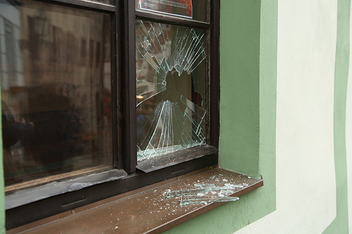 A2B Glass are able to board up broken windows while they are being repaired in Mayfair.